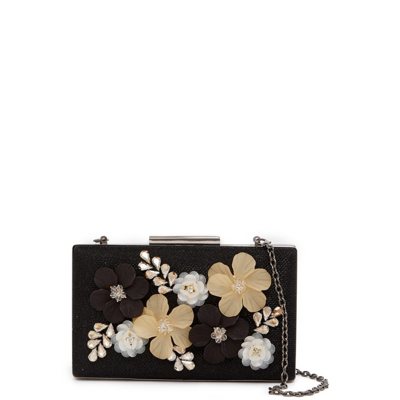 Embellished Floral Clutch