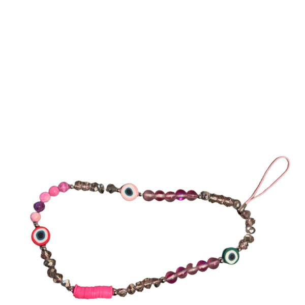 Pink Crystal Phone Charm Wristlet