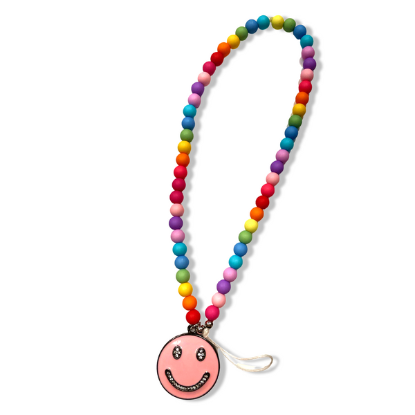 Candy Smiley Face Phone Charm Wristlet