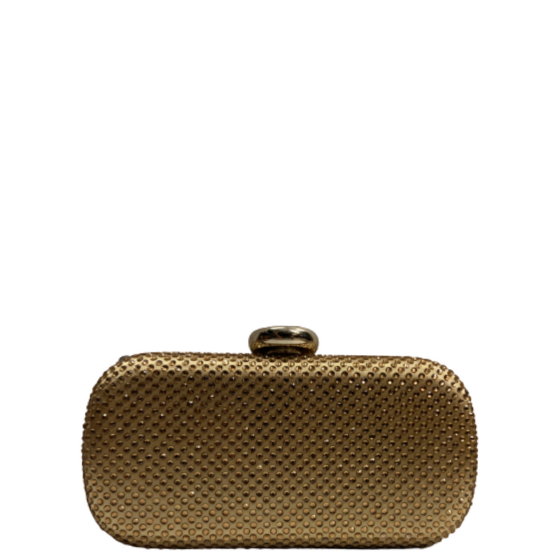 Crystal Stone Gold Clutch
