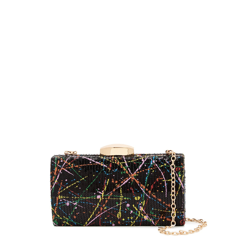Splatter Sequin Clutch