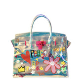 peace + love graffiti tote