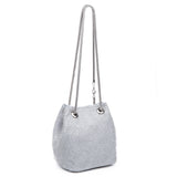 Kiki Crystal Mesh Bucket Bag