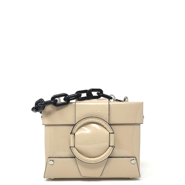 Priscilla Patent Chain Bag