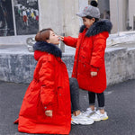 Manteau Hiver Mere Fille Rouge