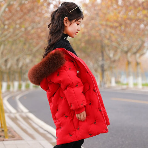 Manteau Assorti Mere Fille Rouge
