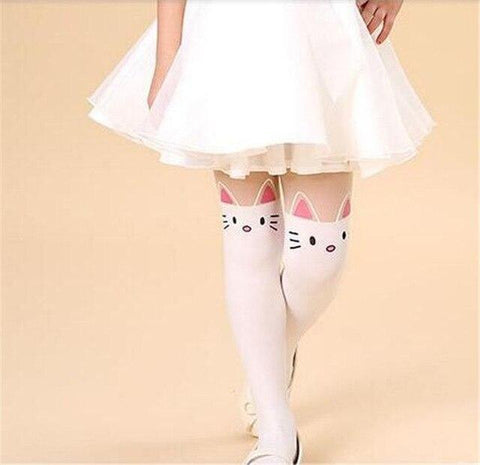 Collants Chat Blanc enfant - Mon Mini Moi Collants et bas Cute Kids Zone