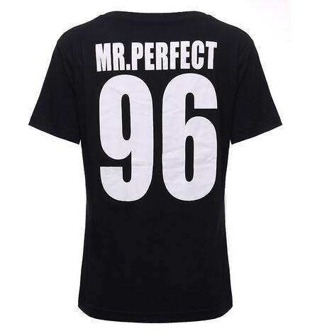 2018 New European Style Mrs Mr Perfect Letter All Match Summer Top Tees Print Cotton Casual Women Short Sleeve O Neck T-Shirts T Shirt Couple Mon Mini Moi Homme XS
