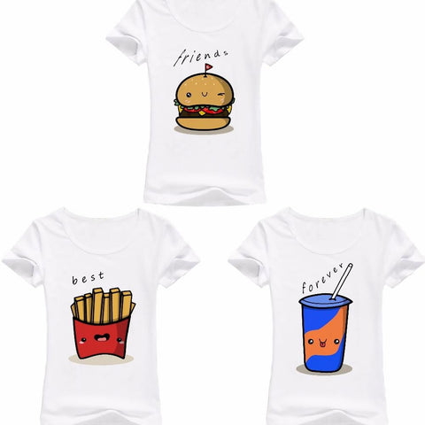 T shirt assortis pour 3 copines T Shirt Assorti Mon Mini Moi