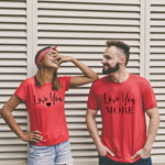 Couple Sweet Gifts His and Her Love You Love You More Letter Love Heart Print Tees Top Women Men New 2019 Cotton Summer T-shirt T Shirt Couple Mon Mini Moi