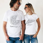 Tee shirt couple PIZZA T Shirt Couple Mon Mini Moi