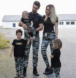Tee shirt et pantalon camouflage Famille Des Vêtements Assortis syue moon Soak Up Moonlight Store