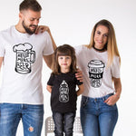 Tee Shirt Famille Assorti Blanc - Need Beer T Shirt Assorti Mon Mini Moi