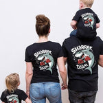 Tee Shirt Famille Assorti - Team Shark T Shirt Assorti Mon Mini Moi Papa M