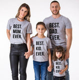 Tee Shirt Famille - Best Family Ever T Shirt Assorti Mon Mini Moi Gris Papa S