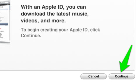 Apple ID intro page