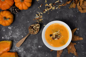 HALLOWEEN PUMPKIN SOUP WITH A TWIST