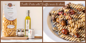 Fusilli with Truffle sauce & Black Olives