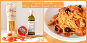 Linguine with Tuna, Cherry Tomatoes & Olives