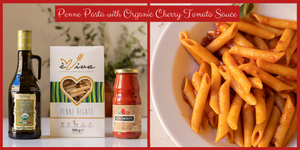 Penne Pasta with Organic Cherry Tomato Sauce