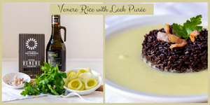 Venere Rice with Leek Purée
