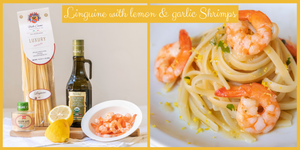 Linguine with lemon & garlic Shrimps
