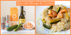 Rice with Zucchini & Shrimps