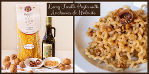 Long Fusilli Pasta with Anchovies & Walnuts