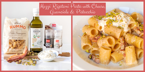 Half sized Rigatoni Pasta with Guanciale, Cheese & Pistacchio