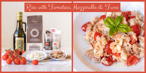 Rice with Tomatoes, Mozzarella & Tuna