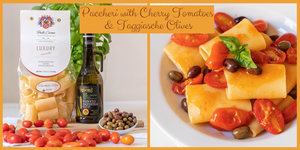 Paccheri with Cherry Tomatoes & Olives