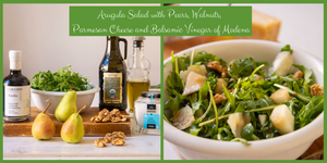 ARUGOLA Salad with PEARS, WALNUTS and PARMIGIANO