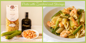 Penne Pasta with Zucchini and Shrimps
