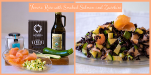 RICE SALAD WITH SMOKED SALMON AND ZUCCHINI