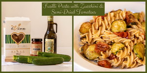 Fusilli Pasta with Zucchini & Semi-Dried Tomatoes