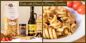 Vesuviotti Pasta with Olives & Cherry Tomatoes