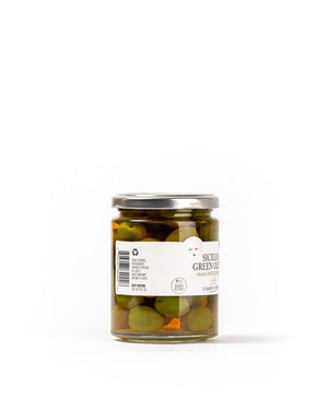 Sicilian Green Olives 6.3 Oz - Magnifico Food