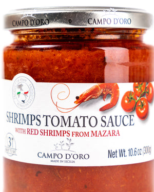 Tomato Sauce with Red Shrimps from Mazara 10.6 Oz - Magnifico Food