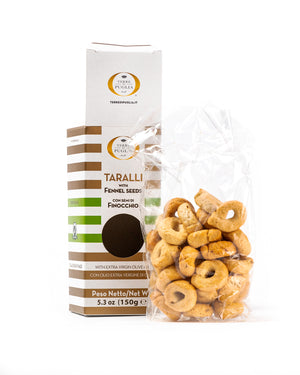 Taralli with Fennel Seeds 5.3 Oz - Magnifico Food
