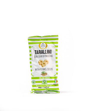 Tarallini with Fennel Seeds 2.82 Oz - Magnifico Food