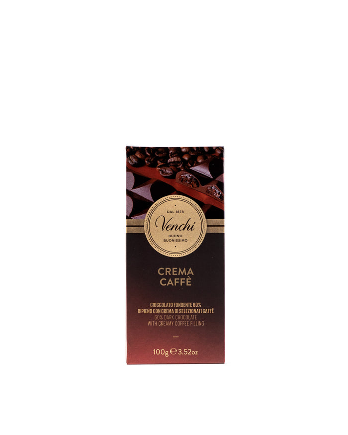 60% Dark Chocolate with Creamy Coffee filling 3.52 Oz