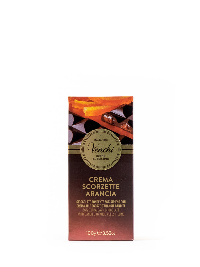 56% Extra Dark Chocolate with Candied Orange Peels filling 3.52 Oz