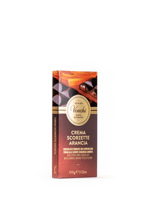 56% Extra Dark Chocolate with Candied Orange Peels filling 3.52 Oz - Magnifico Food