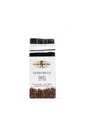 Gusto Ricco Ground Coffee 8.8 Oz - Magnifico Food