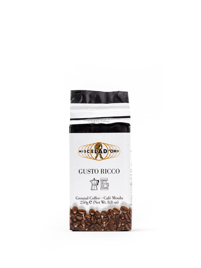 Gusto Ricco Ground Coffee 8.8 Oz