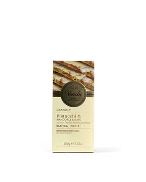 Salted White Chocolate Bar with Hazelnuts 3.52 Oz