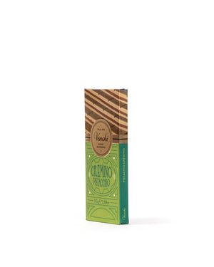Pistachio Cremino Chocolate Bar with Gianduja 3.88 Oz