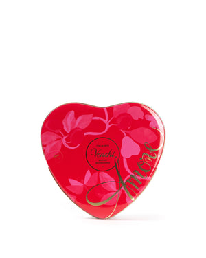 Heart Tin Box 17 Assorted Milk and Dark Chocolate 5.29 Oz
