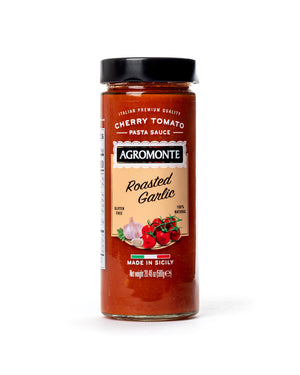 Cherry Tomato Pasta Sauce with Roasted Garlic 20.46 Oz - Agromonte - Magnifico Food