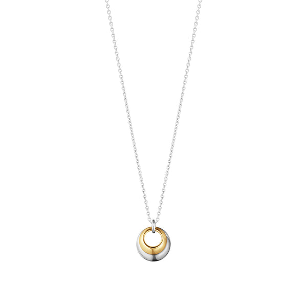 Curve Pendant - Sterling Silver and 18kt Yellow Gold
